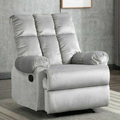 Advertisement Recliner Sofa Armchair Manual Chair Waterproof Velvet Fabric Sofa Lounge Seat Lounge Sofa Reclining Sofa Fabric Sofa