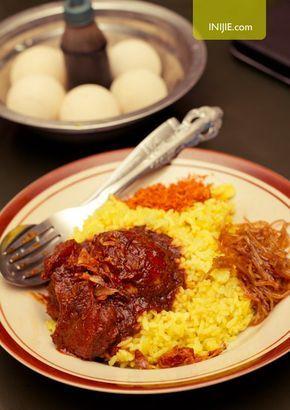 Yellow Rice Or Nasi Kuning With Haruan Masak Habang Banjar South Borneo Food Nasi Resep Masakan