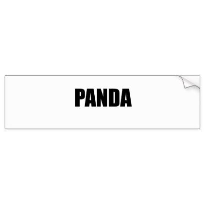Panda bumper sticker calligraphy gifts custom personalize diy create your own