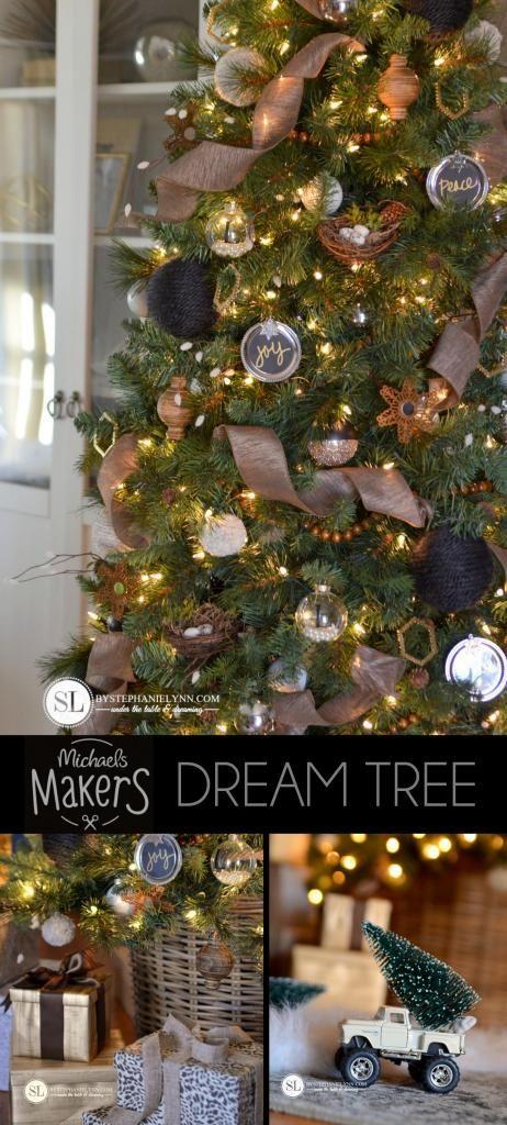 2014 Michaels Dream Tree Challenge | Make it Merry Christmas Tree #michaelsmakers #tagatree