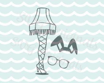 A Christmas Story Leg Lamp Svg Vector File Hand Drawn Leg