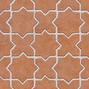 Mixed Blocks Terracotta Outdoor Floorings Textures Seamless 76