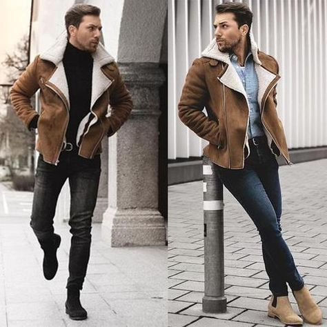 Cotton Coat Men's Imported Lamb Hair Liner Lapel Leather Jacket – joymanmall vests for men outdoor vests for men fashion vests for men winter vests for men classy
