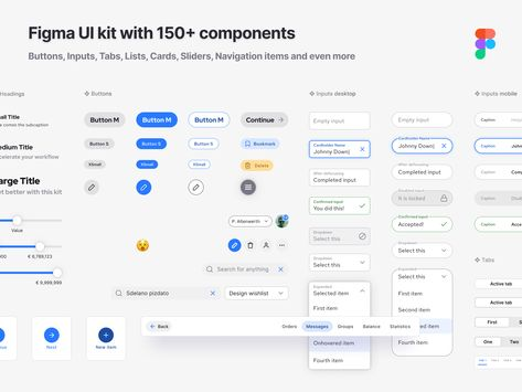 Ui design components kit for Figma