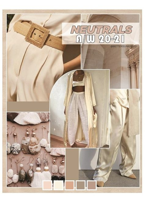 color trend forecast | fahsion forecast | neutrals | trendy | fall/winter 2019 | fall/winter 2020 | f/w 2020 a/w 2020| trendy colors for 2020 | mood board | fashion school