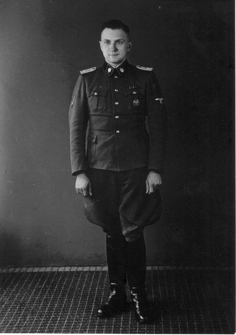 Richard Baer Kommandant at Auschwitz (1944-1945) and Dora (1945.)  Baer served in the SS Totenkopf Division in 1942.  At least 1,000,000 persons died at Auschwitz; about 20,000 perished at Dora.  He died while in detention at trial in Frankfurt, Germany on June 17, 1963, having avoided prosecution for many years due to a false identity of Karl Neumann.