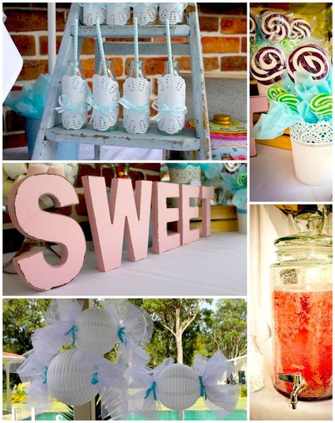 Sweet Shoppe Party with TONS of Ideas via Kara's Party Ideas #SweetShoppe #party #ideas #supplies