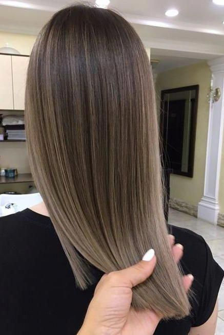 Sleek Babylights A Medium Ash Brown Base Gets This Flawless Finish From Major Highlighting And Lo Honey Hair Color Brown Hair Balayage Hair Color Light Brown