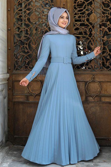 Pinar Sems Piliseli Tesettur Elbise Modelleri Dresses High Neck Dress Fashion