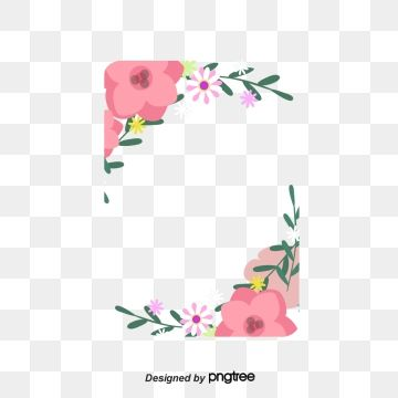 Hand Painted Floral Card Border Hand Painted Flowers Greeting