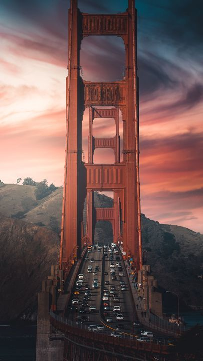 The Latest Iphone11 Iphone11 Pro Iphone 11 Pro Max Mobile Phone Hd Wallpapers Free Download Bridge Road Cars Mounta In 2020 Golden Gate Bridge Golden Gate Travel