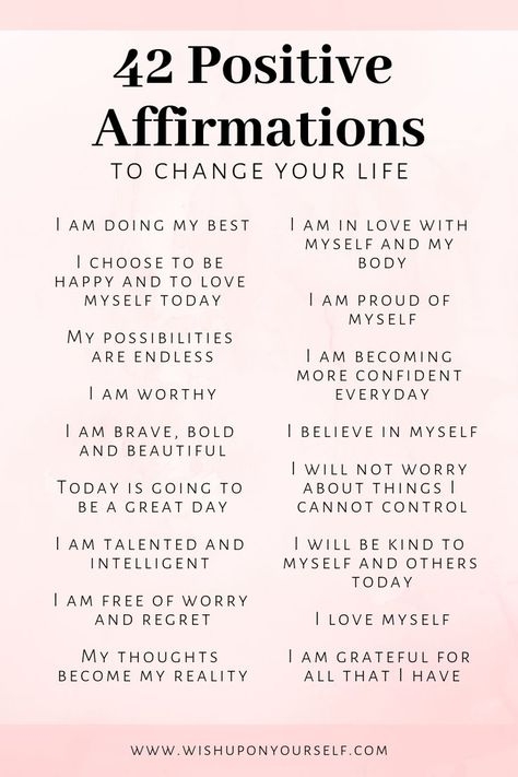 42 Positive Affirmations To Change Your Life - #affirmations #Change #Life #positive