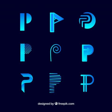 Download Logo Letter P Template Collection for free