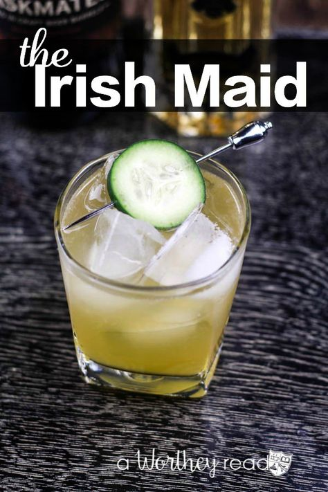 The Irish Maid: The Perfect St. Patrick's Day Cocktail The Irish Maid: The Perfect St. Patrick's Day Cocktail. This festive Whiskey drink is perfect for a crowd at your next Saint patrick's Day Party! Get the Recipe here! Jameson Cocktails, Irish Cocktails, St Patrick's Day Cocktails, Cocktail Drinks, Cocktail Recipes, Alcoholic Drinks, Beverages, Bourbon Cocktails, Irish Whiskey Drinks