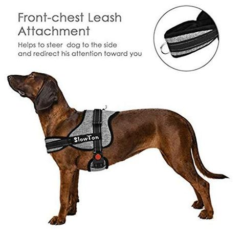 Slowton No Pull Harness Dog Vest Harness Front And Back Leash
