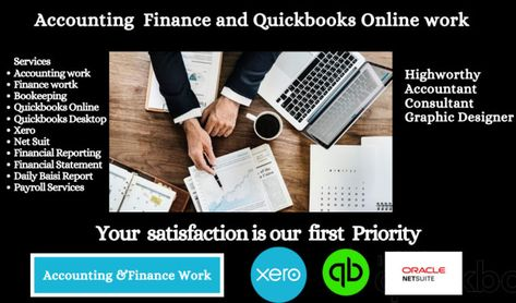 Quickbooks online and accounting finance work By Fiverr