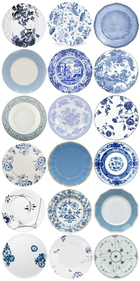 Blue And White Plates Bottom Right Is Royal Copenhagen S Flowers Curved My Own Pattern I Love Too Pinterest