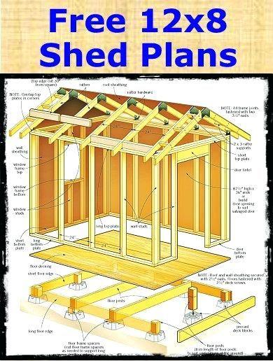 12x8 Shed Plans Diy Storage Shed Storage Shed Plans Wood Shed Plans