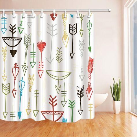 Creative Art Decor Retro Arrow Polyester Fabric Bathroom Shower