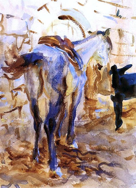 Saddle Horse, Palestine - John Singer Sargent – Oil Painting Reproductions and Prints