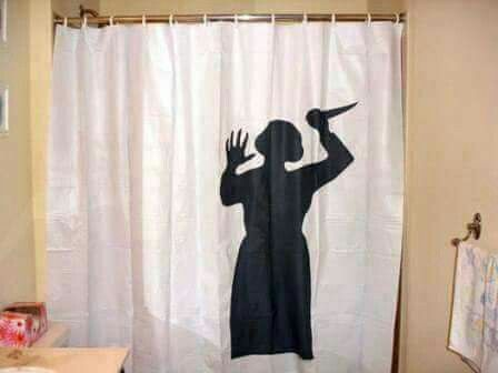 Horrifying Shower Curtain With Images Psycho Shower Curtain