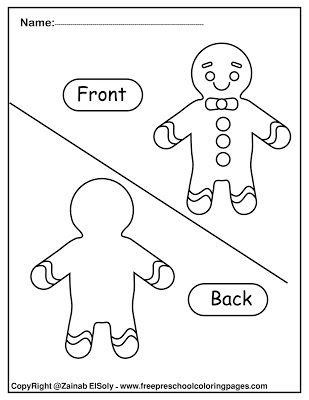Set Of Gingerbread Man Opposites For Kids Opposites For Kids Preschool Worksheets Preschool