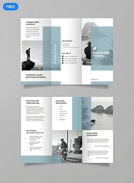 Free Simple Travel Brochure Template Word Doc Psd Apple Mac Pages Illustrator Publisher Simple Brochures Brochure Design Layout Brochure Design Template