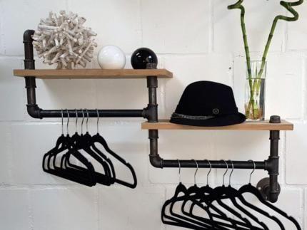 Garderobe Ablage Kleiderstander Aus Wasserrohr Industrial Style