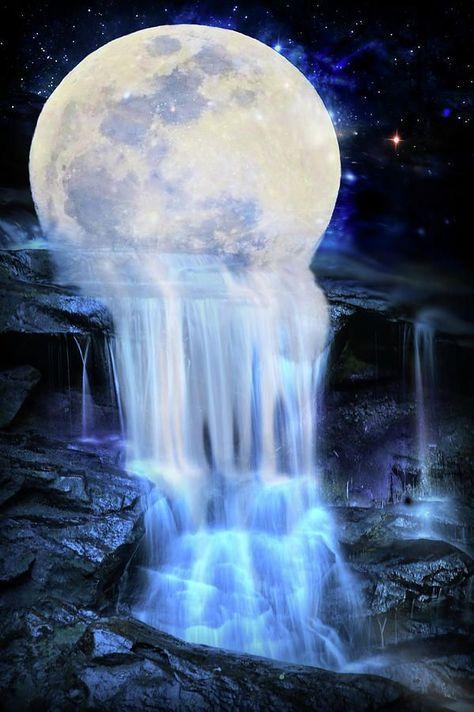 #art #digital #Lilia #melted #Moon