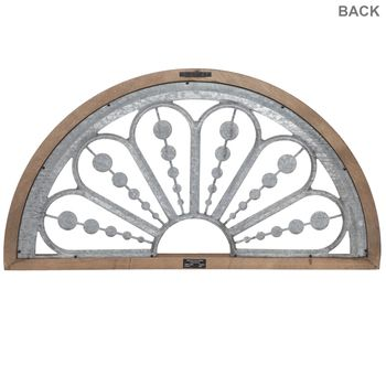 Beaded Arch Galvanized Metal Wall Decor In 2020 Metal Wall Decor