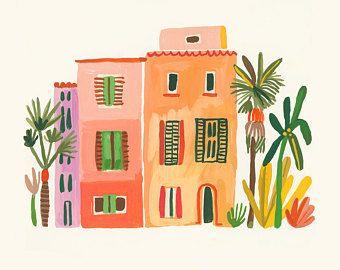 3 Maisons Calabrese Illustration Hw En 2019 Art Dessin