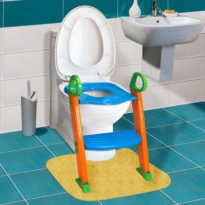 Oxgord Kids Potty With Step Stool Ladder Elongated Toilet Seat
