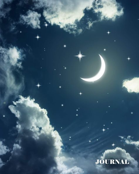 Beautiful Moon and Stars: Amazing night sky theme makes this
