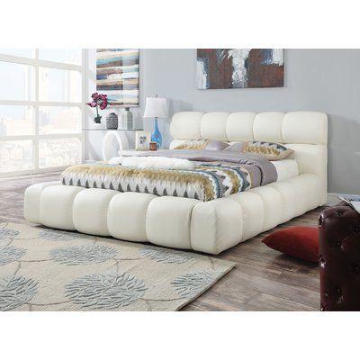 Orren Ellis Peabody Modern European Kingsize Upholstered Platform