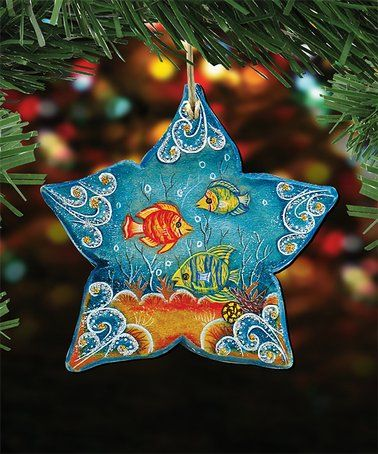 Love This Star Fish Wood Ornament On Zulily Zulilyfinds Christmas Tree Ornaments Wooden Christmas Ornaments Wooden Christmas Trees