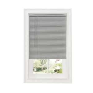 Achim Grey 1 In Cordless Room Darkening Vinyl Blind 36 In W X 64 In L Dsg236gy06 Blinds For Windows Room Darkening Vinyl Blinds