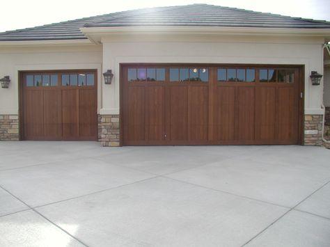 Hand Crafted Wood Garage Door Garage Doors Wood Garage Doors