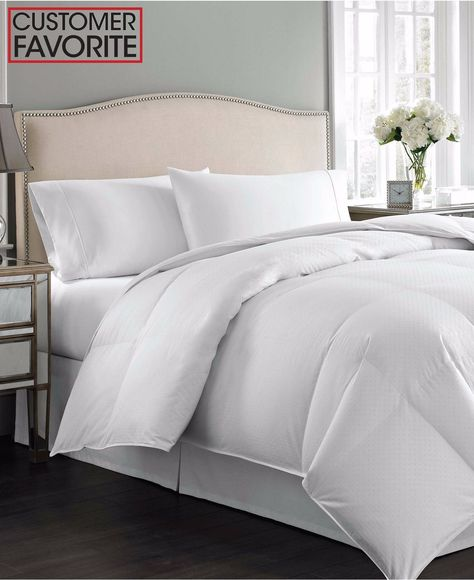 FP 300 TC ALL SEASON DUCK DOWN COMFORTER King or Queen White Solid 650