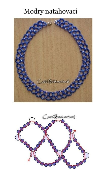 Lots of FREE beading stitch patterns for necklaces