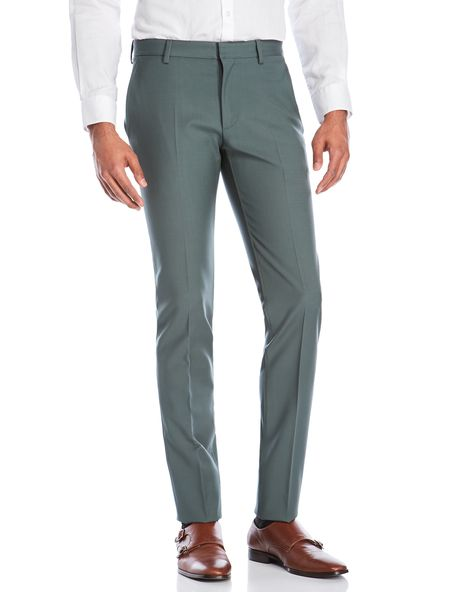 Calvin Klein Collection Myrtle Wool Slim Fit Pants