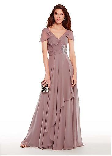 Elegant Crystal Beaded A Line Mother Of The Bride Dresses