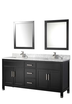 Fresca Oxford 84 In Double Vanity In Mahogany With Ceramic Vanity Top In White With White Basins And Mirror With Side Cabinet Bathroom Sink Vanity Double Sink Bathroom Traditional Bathroom