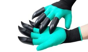 One Or Two Pairs Of Vivo Garden Gloves With Claws For Digging And