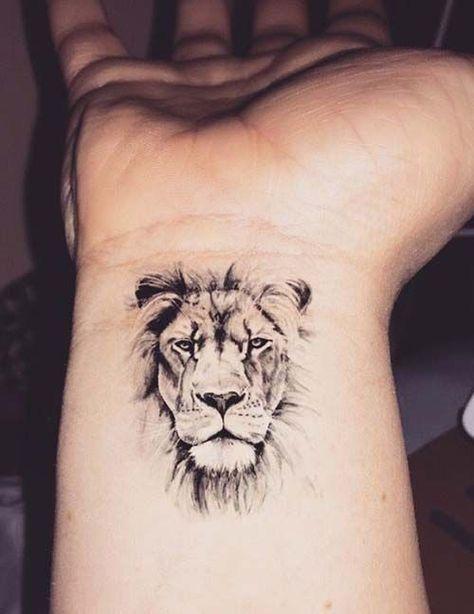 Little Lion Head Wrist Tattoo Cool Wrist Tattoos Wrist Tattoos For Guys Tattoos