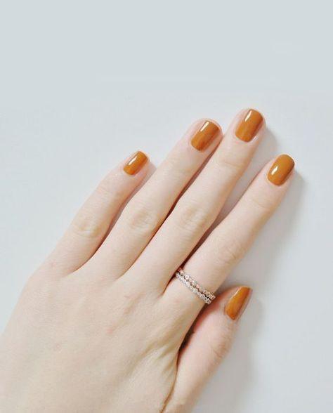Burnt Orange Orange Nails Orange Nail Designs Fall Nail Colors
