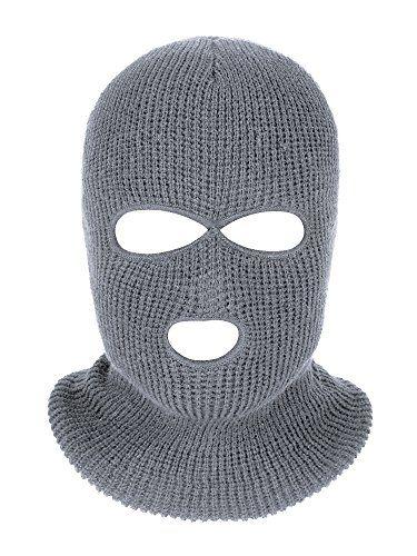 ae1ddf0b Beautiful Satinior 3-Hole Knitted Full Face Cover Ski Mask, Adult Winter  Balaclava Warm