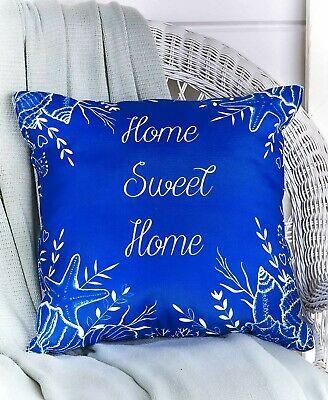Indoor Outdoor Beach Coastal Pillow Home Sweet Home In 2020 Coastal Pillows Tropical Fabric Sweet Home