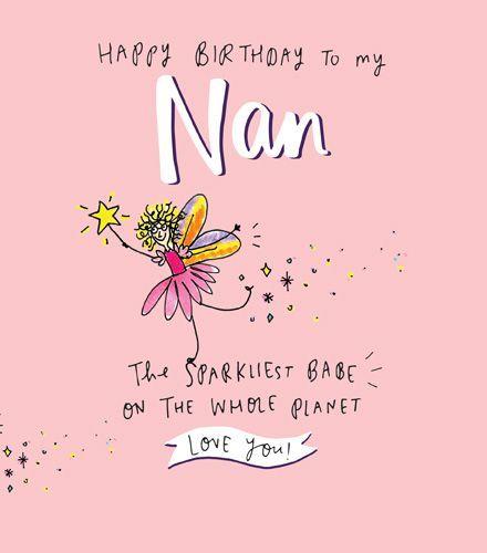 Grandma Nan Birthday Cards The Sparkliest Babe On The Whole Planet Happy Birthday Nan Birthday Cards Sparkly Birthday Card Nan Card Birthday Cards Card Supplies Happy Birthday