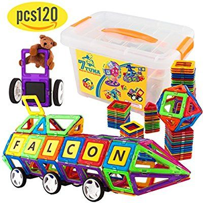 Amazon Com Magnetic Blocks Magnetic Tiles Magnetic Toys Magnetic Building Set Building Tiles Magnetic Shap Magnetic Toys Magnetic Building Toys Toys