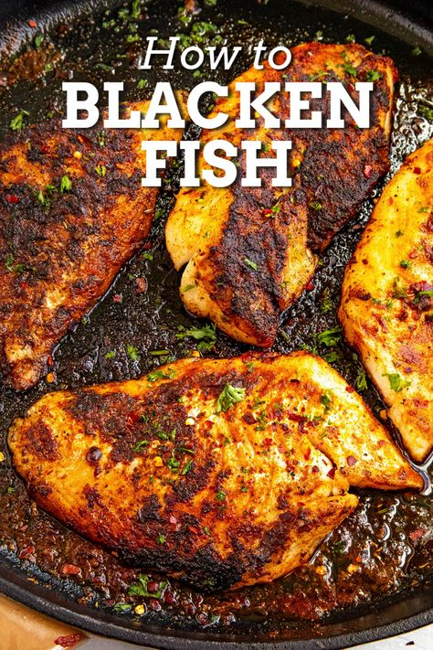 Spicy Fish Recipe, Spicy Seafood Recipes, Trout Recipes, Spicy Chicken Recipes, Tilapia Recipes, Grilled Catfish Recipes, Blackened Fish Recipe, Blackened Chicken, Seasoning Recipe